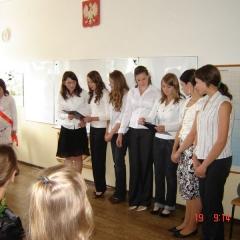 2009 - zakończenie roku szkolnego